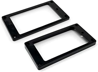 Vintage Forge Black Flat Bottom Humbucker Pickup Mounting Ring Set for Epiphone Guitars HR1300F-BLK