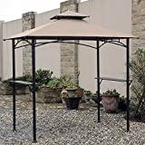 Sunjoy 110109212 Original Replacement Canopy for Grill Gazebo (8X5 Ft) L-GG019PST Sold at Homedepot, Tan