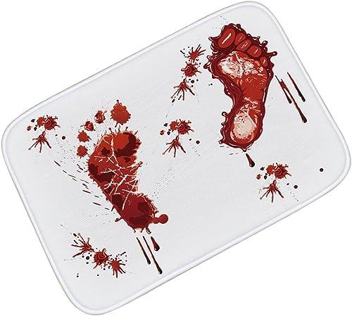 los clientes primero HYRL Carpets Alfombras Bloody Footprints Franela Soft Absorption Absorption Absorption Absorption Alfombra De Baño Alfombra Interior,60×90Cm  ahorre 60% de descuento