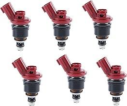 Re-Manufactured Set of 6 Genuine Jecs Fuel Injectors For 1993-1994-1995-1996-1997 Infiniti J30 3.0L V6 A46-00