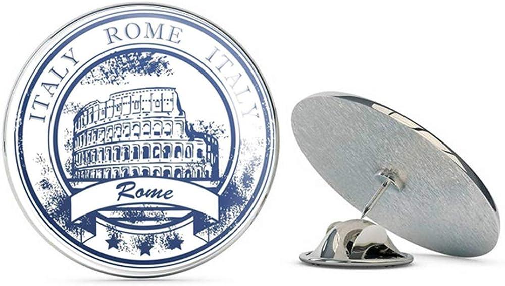 Italy Rome Round Metal 0.75