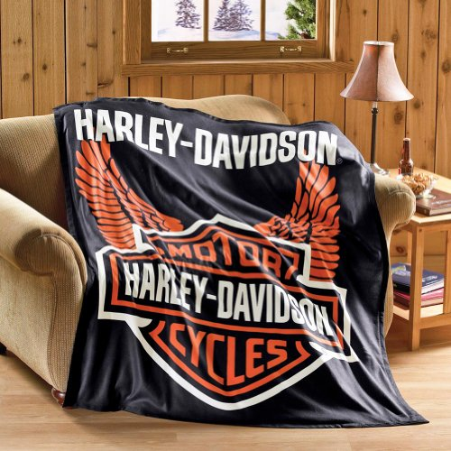 Gifts for Motorbike Lovers | Harley Davidson Throw Blanket