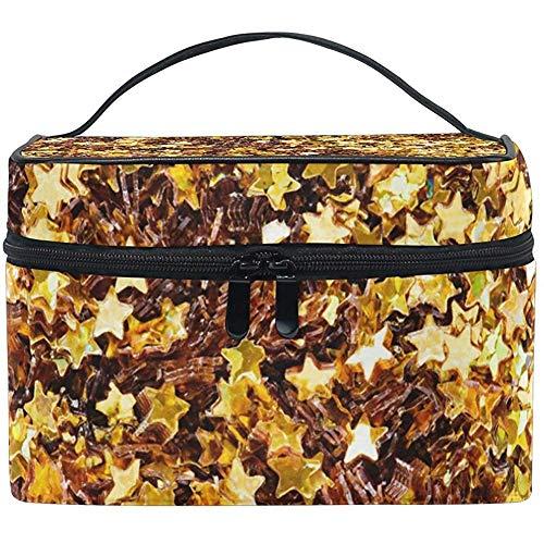 Pentagram Golden Stars Travel make-up tas met ritssluiting cosmeticatas toilettas multifunctioneel draagbaar