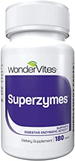 WonderVites Superzymes Digestive Enzyme Supplement Formulated with Betaine HCL, Pepsin, Bromelain, Papain, Ox Bile Extract...