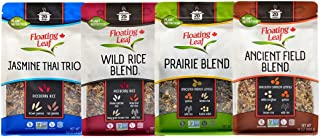 Floating Leaf Rice Variety Pack - 14 ounces, 4 count - Jasmine Thai Trio, Wild Rice Blend, Prairie Blend and Ancient Field...