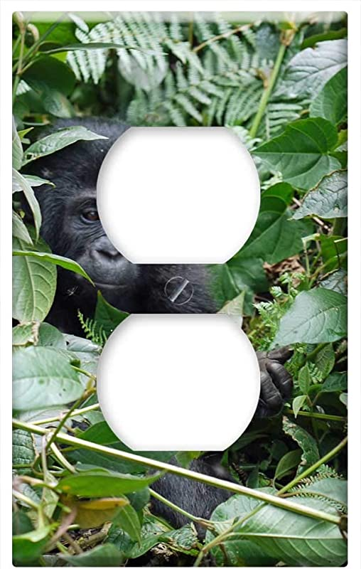 Switch Plate Outlet Cover Gorilla Baby Mountain Gorilla Monkey Ape Hand