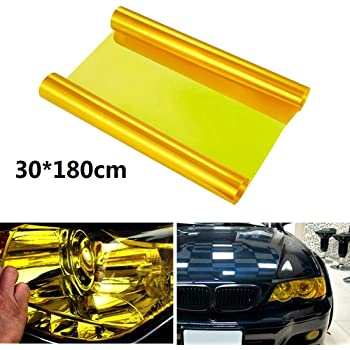 Dark Black Bessie Sparks Cars Headlight Rear Lights Tail Light Fog Lamp 30x180cm Tint Vinyl Films Cover Protective Window Tinting Film Car Light Film