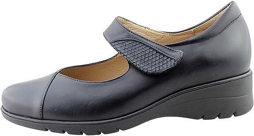 PieSanto Chaussure Femme Confort en en en Cuir 175953 Mary-Jane Confortables Amples f6e