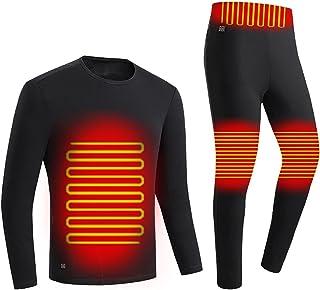 BFYH Men's Warm Underwear, USB Rechargeable Intelligent Heating Underwear Set Keep Warm in Winter for Outdoor Hiking Fishing