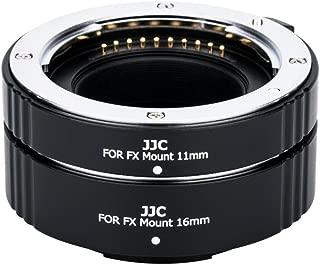 Auto Macro Extension Tube JJC 11mm 16mm Focus Macro Extension Tubes Set Fits for Fuji Fujifilm X Mount X-T20 X-T10 X-T2 X-T1 X-PRO1 X-PRO2 X-H1 X-A1 X-A2 X-A3 X-A5 X-A10 X-M1 X-E1 X-E2 X-E2S X-E3