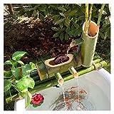 竹の水噴水、ポンプとチューブを完備、水槽のプール循環水噴水 (Size : 70cm)