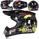 buetr casco integrale per moto elettrico casco integrale casco integrale con tuta a tre pezzi-p fiore nero brillante_l