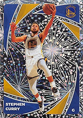 2020-21 Panini Stickers Basketball #328 Stephen Curry Golden State Warriors Foil Official NBA Sticker Collection Single Card (paper thin 49x69 mm)