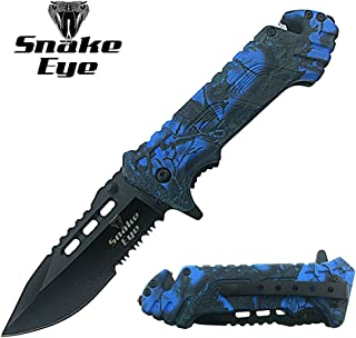 Snake Eye Tactical Action Assist Camouflage Designed Folding Pocket Knife Outdoors Survival Camping Hunting Fishing