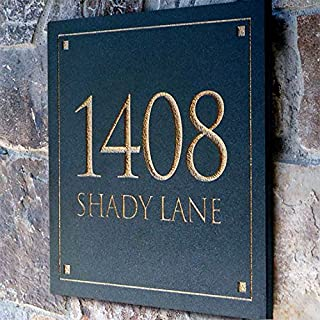 stone house number plaques