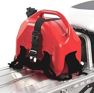 Genuine Pure Polaris Snowmobile RMK/Voyageur/Assault Lock & Ride Adjustable Fuel Can Rack Matte Black pt# 2879790-458