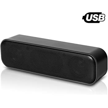 USB Computer Speaker, Laptop Speaker with Stereo Sound & Enhanced Bass, Portable Mini Sound Bar for Windows PCs, Desktop Computer and Laptops