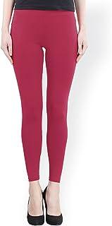 FashGlam Women Premium Ankle Length Leggings - Magenta