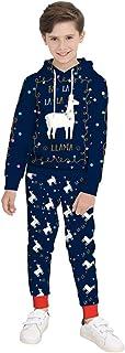 COCO1YA(ココイチヤ) クリスマス 衣装 パーカー トナカイ柄プリント ドット柄 子供 男の子 秋 冬 トレーナー セットアップ 上下セット ネイビー キッズ 110-150cm