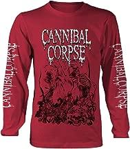 Cannibal Corpse 'Pile of Skulls 2018' (Rojo) Camisa de Manga Larga