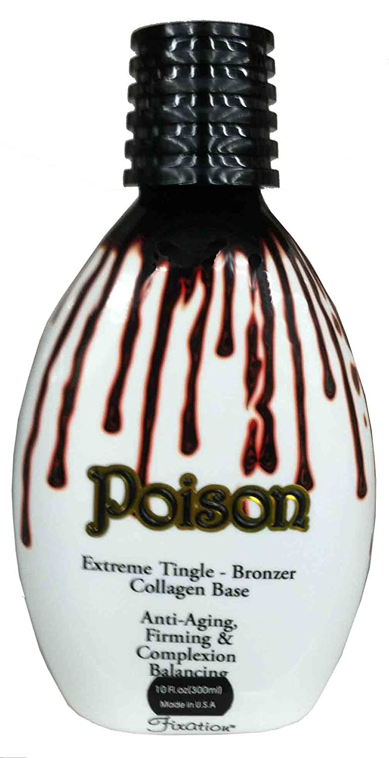 Max 79% Ranking TOP3 OFF Poison 11 oz Hot Tingle Lotion Fixation By Tanning Bronzer