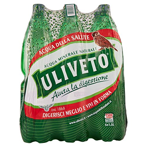 Uliveto, Acqua Minerale Naturale - 6 Bottiglie da 1.5 Litri