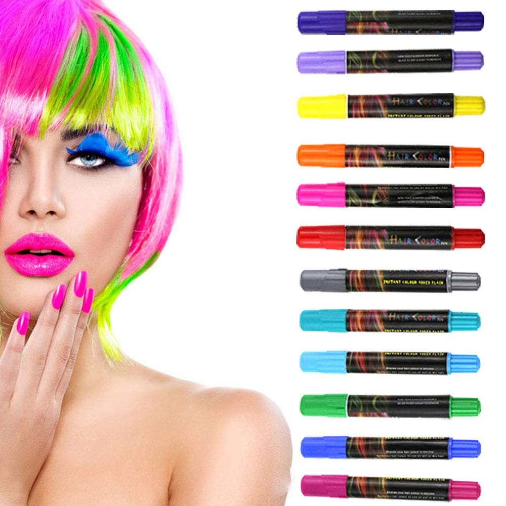 Over item handling ☆ Adofect Hair Chalk Set For Color Girls 12 Piece Temporary gift