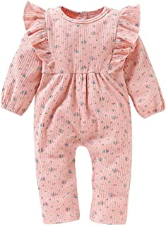 Newborn Baby Girls Romper Jumpsuit Cartoon Long Sleeves Bodysuit Infant Toddler Outplay Clothes