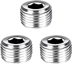 Joyway 3Pcs Stainless Steel Internal Hex Thread Socket Pipe Plug 3/8