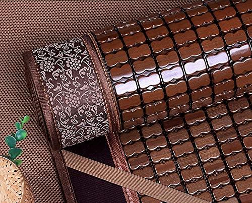 Estera para dormir de verano Bambú, colchón de refrigeración de bambú plegable lavable liso lavable estera de bambú suave almohadilla de dormir de verano -single cama dormitorio,A,100*190cm(39x75inch)