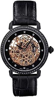 Heli Reymond - D9015LD - Reloj automático para Mujer, diseño de Esqueleto, Color Negro