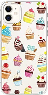 iPhone 11 Pro (5.8 inch) Case,Blingy's Cute Cupcake Style Transparent Clear Soft TPU Protective Case Compatible for iPhone 11 Pro 5.8