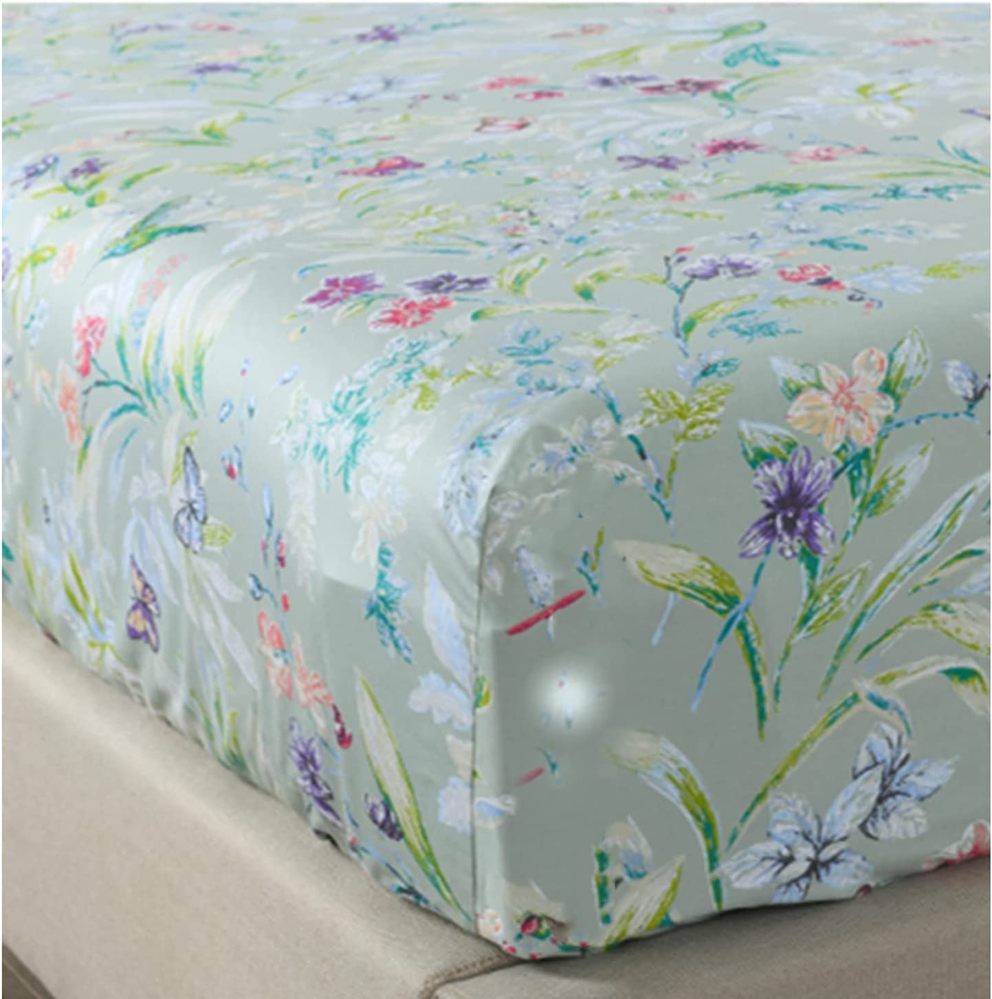 WINLIFE Twin Fitted Sheet Columbus Mall Only - 100% Deep Cotton Staple Max 40% OFF Long
