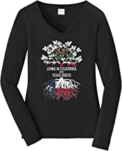 Tenacitee Women's Living in California with Texas Roots Long Sleeve T-Shirt
