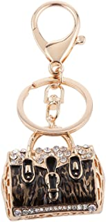 Prettyia Purse Bag Key Hanger Crystal Ladies Handbag Pendant Key Finders Black