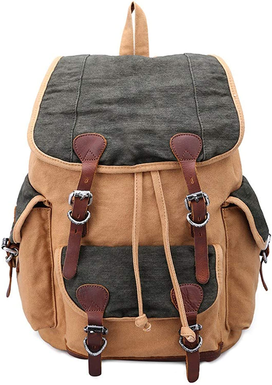 Canvas Shoulder Bag, Retro Shoulder Computer Backpack