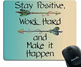 Smooffly Gaming Mouse Pad Custom,Stay Positive Work Hard and Make It Happen Motivational..