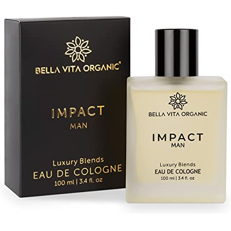 Bella Vita Organic Impact Perfume For Men Scent Long Lasting Fragrance Blended with Fresh, Woody, Citrus & Leathery Aroma,100 ml EDC