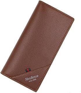 BeniNew men's long wallet vertical wallet-light brown