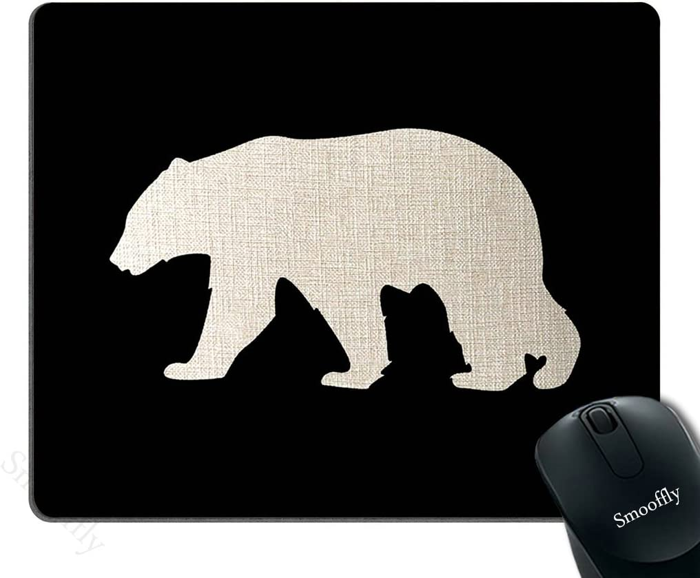Smooffly Black Mouse 55% OFF Pad Background Rectan Customized Bear Oklahoma City Mall