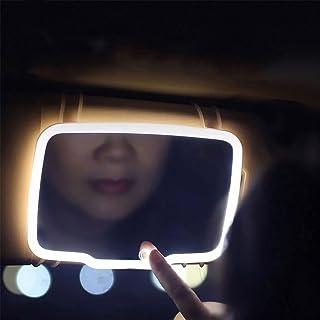 Car Visor Mirror, BSTiltion Led Mirror for Car Rear View Mirror Sun-Shading Cosmetic Mirror, Car Sun Visor Vanity Mirror, ...