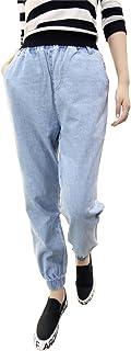 【Y's factory】 レディース デニム ジョガー パンツ 大人 カジュアル ボトムス 大きいサイズ