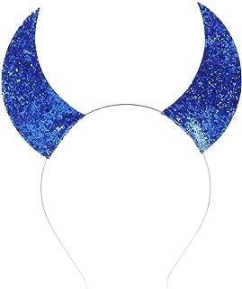 Love Fairy Halloween Sequins Devil Horns Headband Cosplay Masquerade Props Holiday Party Headband