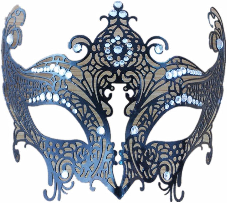 Mardi Gras Party Masquerade Mask,Mask Dance mask Party Half face mask mask Female Metal mask Black Fox White Diamond Prom Masks