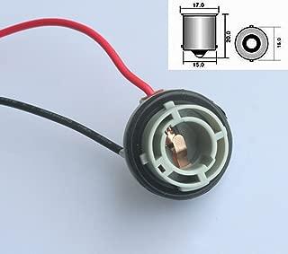 2 St/ück BA15S Gl/ühbirnenhalter f/ür Auto-Blinker Haitech 1156 Lampenfassung Kupferdraht ABS P21W