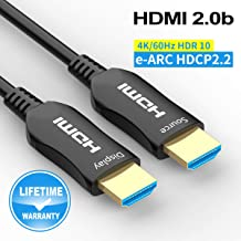 Fiber HDMI Cable 30ft 4K 60Hz, FURUI Fiber Optic HDMI 2.0b Cable HDR10, ARC, HDCP2.2, 3D, Dolby Vision, 18Gbps Subsampling 4:4:4/4:2:2/4:2:0 Slim and Flexible HDMI Fiber Optic Cable - 10M