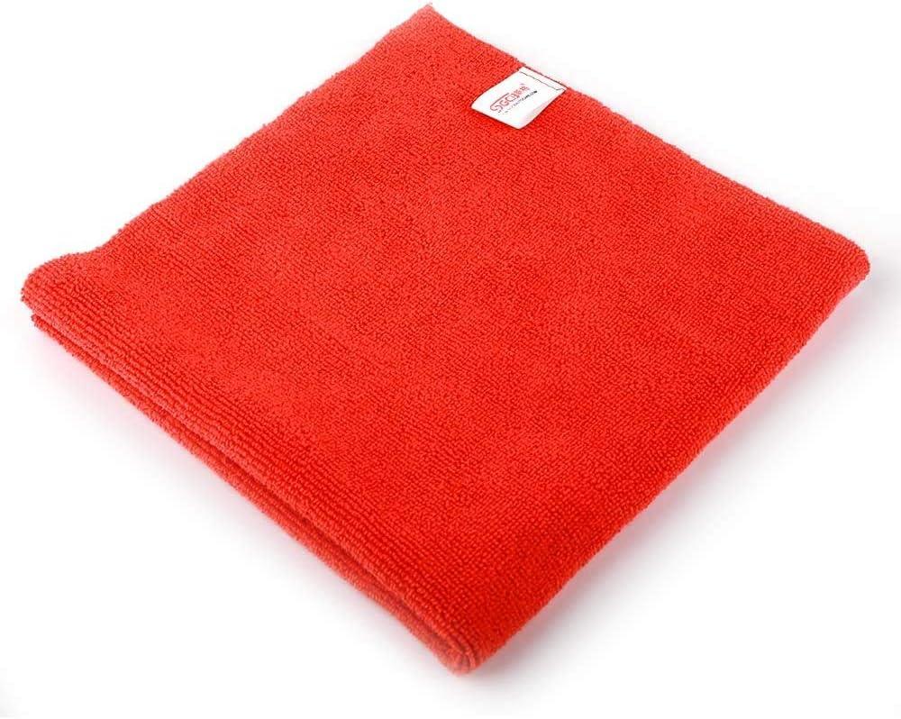 Black X 16 in SGCB 16 in 1 Pack Edgeless Microfiber Towel Absorbent Fine Grade Microfiber Clean Cloth Premium Car Wash Drying Towel for Car Bath Waxing Cleaning Coating Detailing