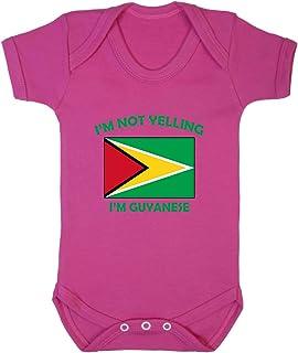 Flag-map of Guyana Baby Newborn Crawling Suit Sleeveless Romper Bodysuit Onesies Jumpsuit Black