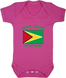 I'm Not Yelling, I Am Guyanese Guyana Baby Bodysuit One Piece Hot Pink Newborn