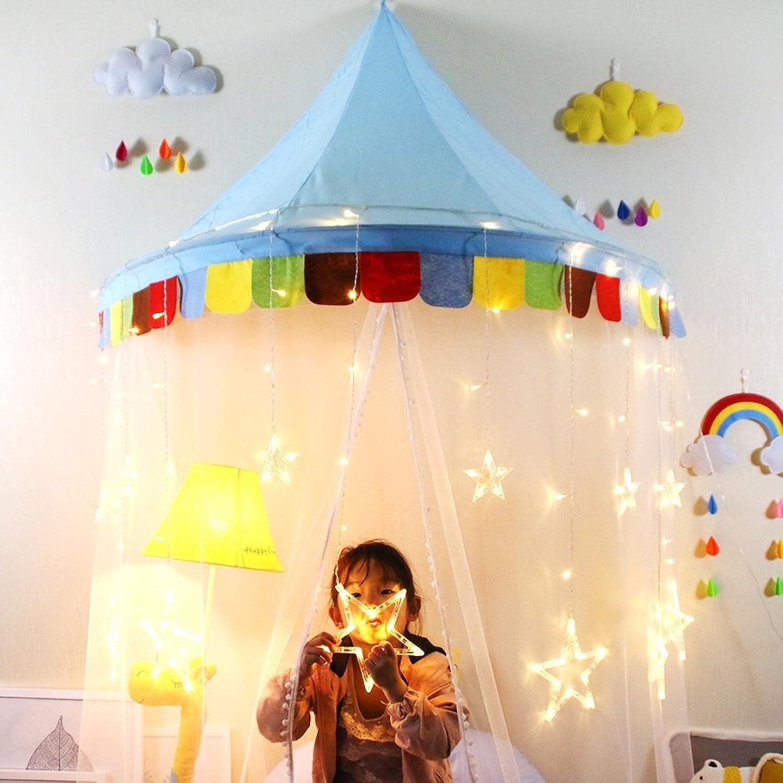 ZSRHHZelt Babygeschenke Baby Spielzelt, Indoor Kinderfalzzelt Halbmond Spielzimmer (M) Zelttunnel (color   002blueee, Size   M)